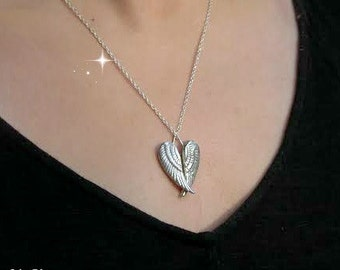 Angel Wings Necklace, Christmas Angel, Inspirational and Spiritual Jewellery, Sterling Silver Necklace