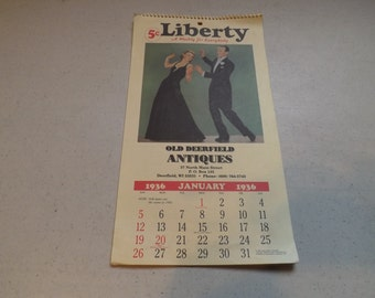 Replica Liberty Old Deerfield Antiques !936 Calendar
