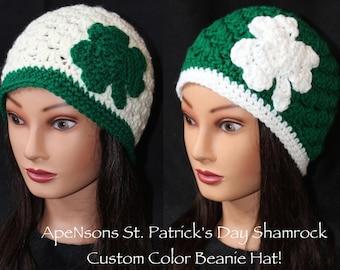 Women's St. Patrick's Day Shamrock Beanie Hat
