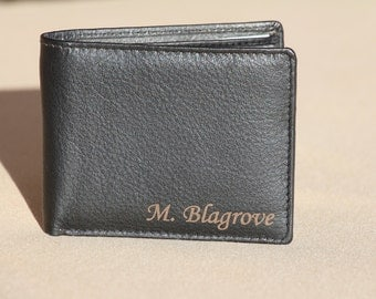 Personalized Leather Wallet, Groomsmen Gifts, Groomsman Gift, Monogram Wallet, Gift for Men, Custom Wallet, Men's Wallet, Birthday Gift