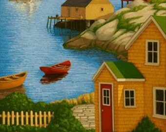 """Up the Coast 7.5"""" x 15"""" Image on 11"""" x 17"""" paper by Paul Hannon FREE SHIPPING Canada & US"""