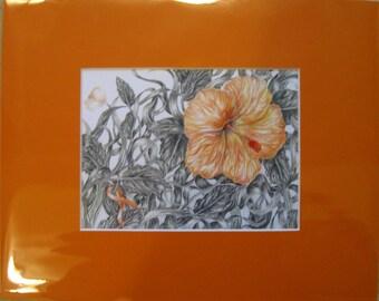 "8x10"" Orange Flower Print (Leukemia)"