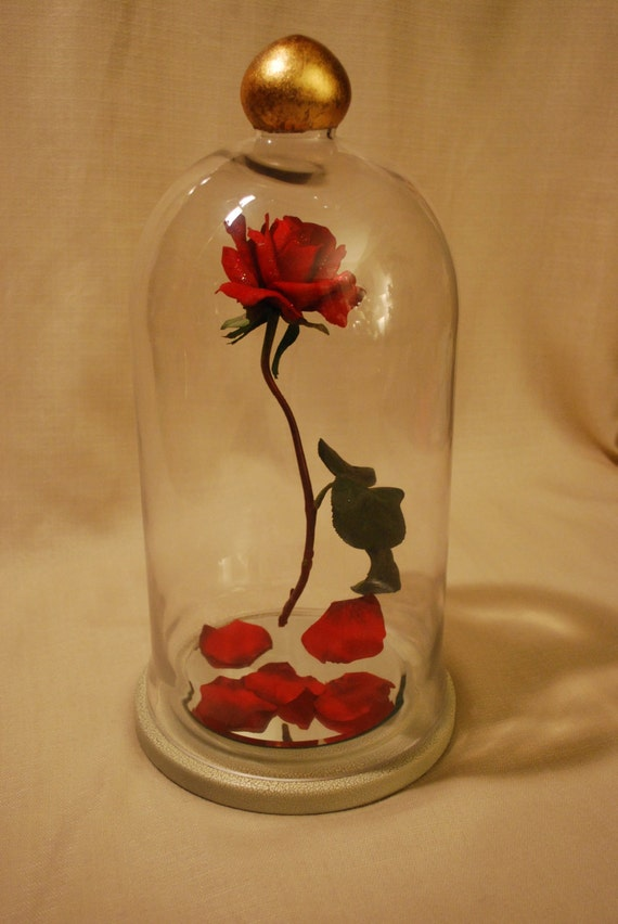 Enchanted floating rose disney fairy tale by silveradostudios