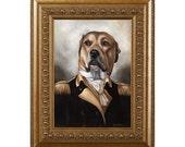 Funny Pet Gift, Pet Gag Gift, Dog Magnet, General George Dashington, Dog Gag Gift