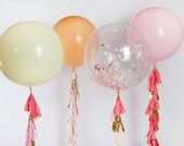 Custom Confetti Balloon with Tassels