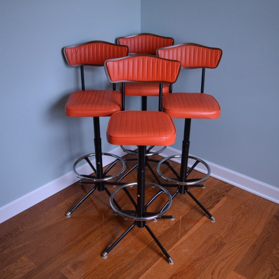 Reserved Vintage Swiveling Bar Stools Set Of 2 By