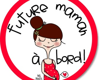 Decals for car 'Future mum on board'