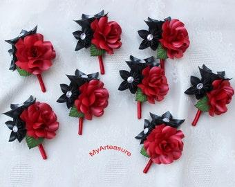 Paper Flower Boutonniere