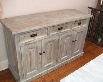 custom made buffet from reclaimed wood made in the USA