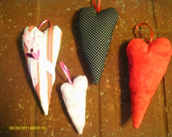 Loving Heart Pillow Ornaments Set 2