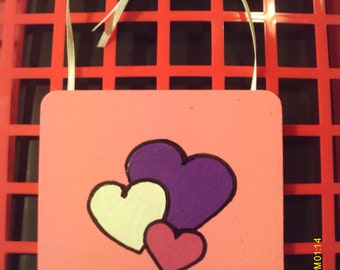Cute Valentine Heart Coaster Wall Hanging #2