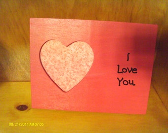 I Love You Picture Frame Heart