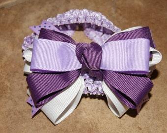 Lavender and Purple Infant Headband