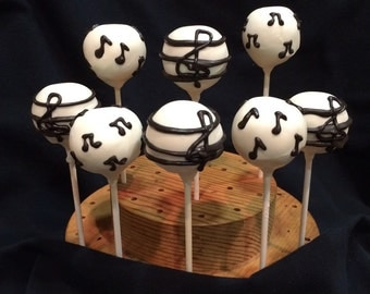Music Notes Cake Pops- Made to order - 12 Pieces