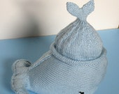 Baby Hat Whale Tail Hat Blue Infant Toddler