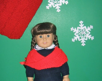 Cowl Shrug MATCHING SET Girl and Doll Cowl Scarf Shrug Mobius Style