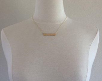 Initial Bar Necklace, Gold Chain Necklace, Bridesmaid Necklace, Gold Necklace