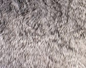 Gray 2 Tone Wolf Faux Fur Fabric by the yard for costume, throws, home furnishing, photo props - 1 Yard Style 5016