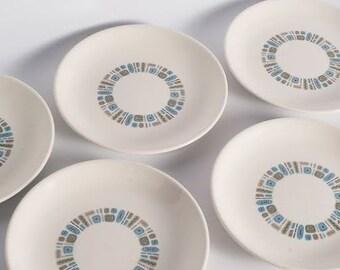 """Set of 5 Temporama 7 1/4"""" Plates"""