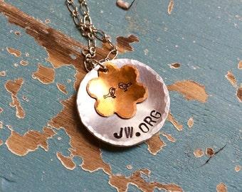 JW.ORG Aluminum Pendant Necklace