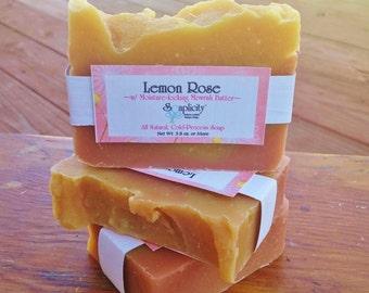 Lemon Rose, All Natural Vegan Soap