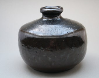 Rare Dark Brown glazed Heiner Balzar studio vase