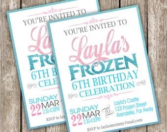 Frozen Birthday Invitation - Frozen Birthday Party - DIY Printable - Frame