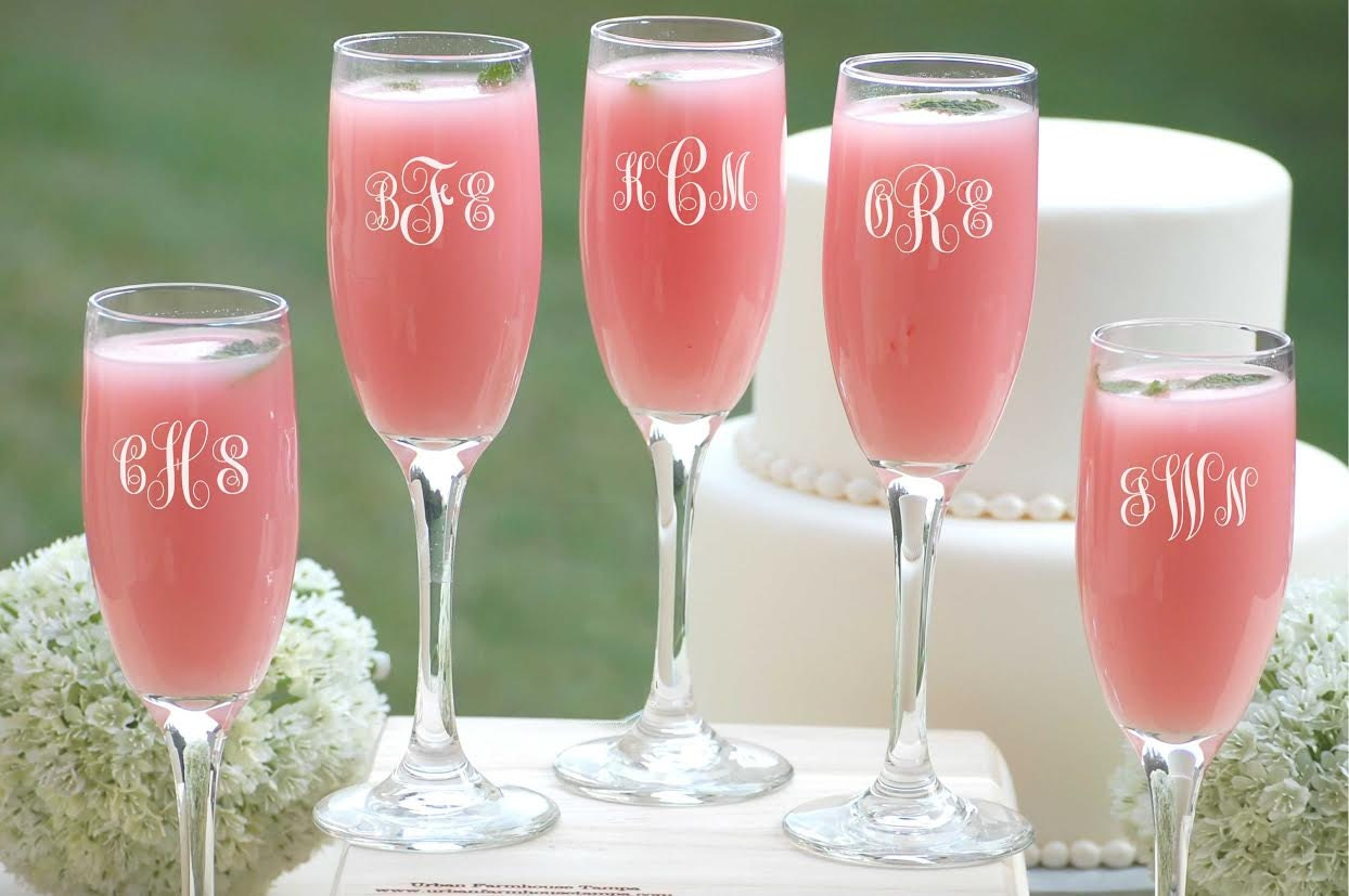 Bridesmaids gifts bridesmaid champagne glasses personalized bridesmaids gifts bridesmaid champagne glasses personalized wedding party gift 5 custom champagne glasses bridesmaid maid of honor gift junglespirit Image collections