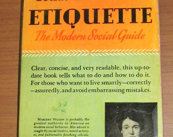 1940s Etiquette Book, Paperback Edition of Margery Wilson's Pocket Book of Etiquette, 9th Printing 1942, 1940s Social Guide, 40s Manners
