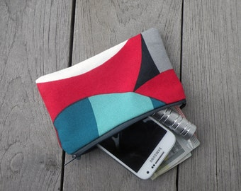 "Zipper Pouch - Marimekko Spinning Pouch  - Colorfull Coin Purse - Make up bag - Cosmetic bags - Gift for Her - Pochette - 15X9 cm (6""X3.5"")"