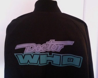 Very Rare Vintage 1980s Doctor Who Promo Baseball Jacket Unisex Size XL