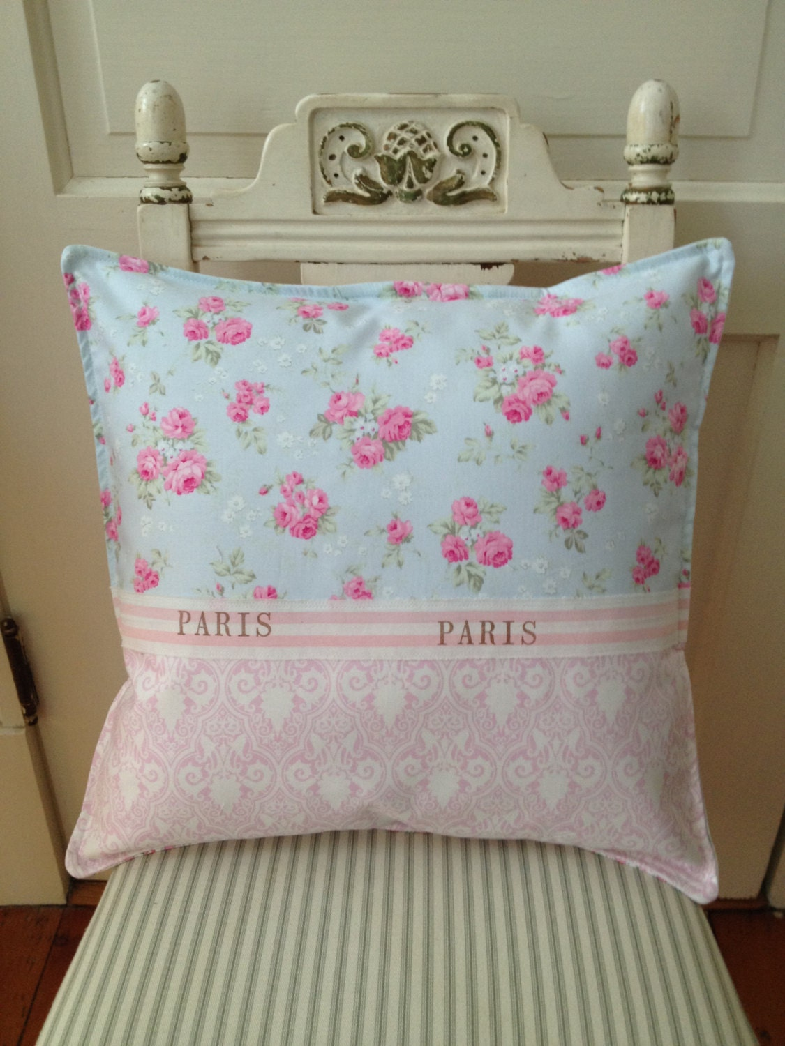 Shabby Chic King Size Pillow Shams : French Country Pillow Shabby Chic Paris Apartment Sham