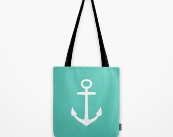 Nautical Tote Bag Beach Bag Anchor Bag Book Bag Cute tote bag