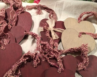 Misc Heart Wooden Ornaments