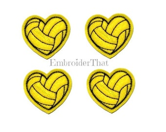 UNCUT Heart Sports Balls feltie applique patch embellishments (4)