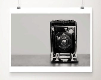 black and white photography vintage camera photograph still life photograph retro camera print large format camera