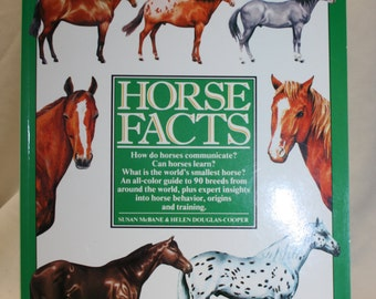 Vintage  book, Horse Facts by Susan McBane and Helen Douglas Cooper