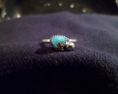 Authentic Navajo,Native American,Southwestern,sterling silver sleeping beauty turquoise ring. Size 7 1/2