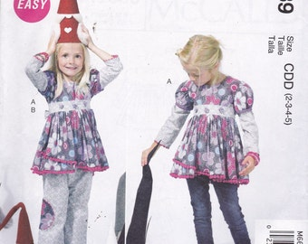 McCalls 6639 Pattern Girls Tunic Top and Pants Size 2,3,4,5 UNCUT