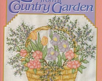 Cross Stitch from a Country Garden Cross Stitch Pattern Book
