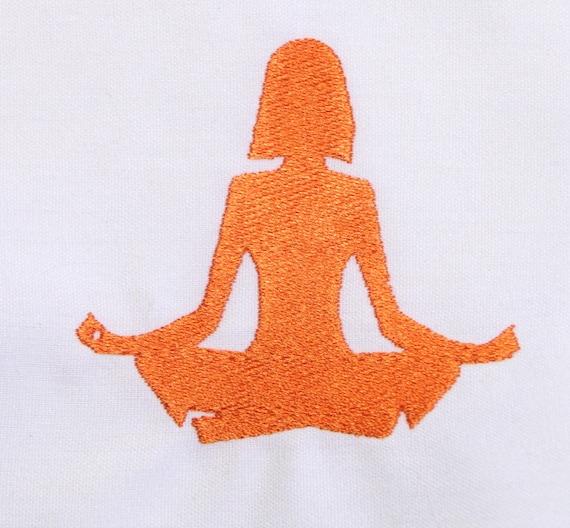 Yoga machine embroidery design