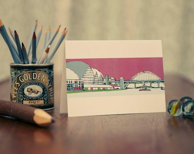 Art / Greeting Card - The Sage & Tyne Bridge, Gateshead and Newcastle.