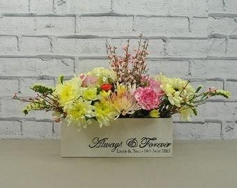 Personalised Wedding Planter Box