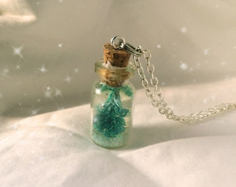 Miniature Christmas Tree in a Jar Necklace Gift