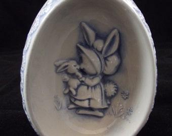 1976 Ceramic Egg  Mama Bunny