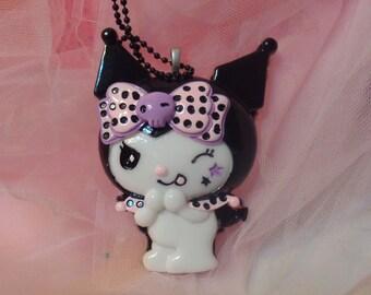 Kawaii Cute Lolita Jester Extra Large Cabochon Necklace