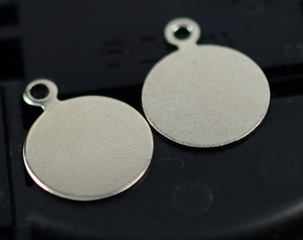 150 Pieces 10 mm Silver Tone Color Blanks Stamping