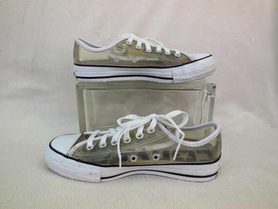 Vintage Converse Shoes All Star Sneakers Clear Plastic