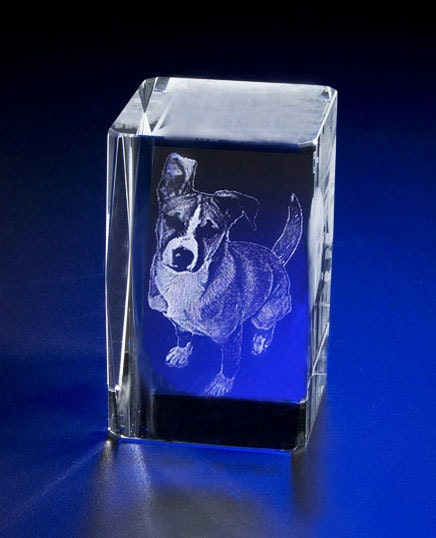Laser Engrave Photo Crystal Rectangle Custom 3D Crystal