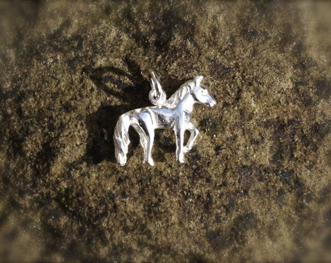 Genuine 925 Silver Horse Charm - Pendant Bracelet Necklace Sterling Pony Animal Wedding Christening Bride Bridesmaid Birthday Gift 16 18 21
